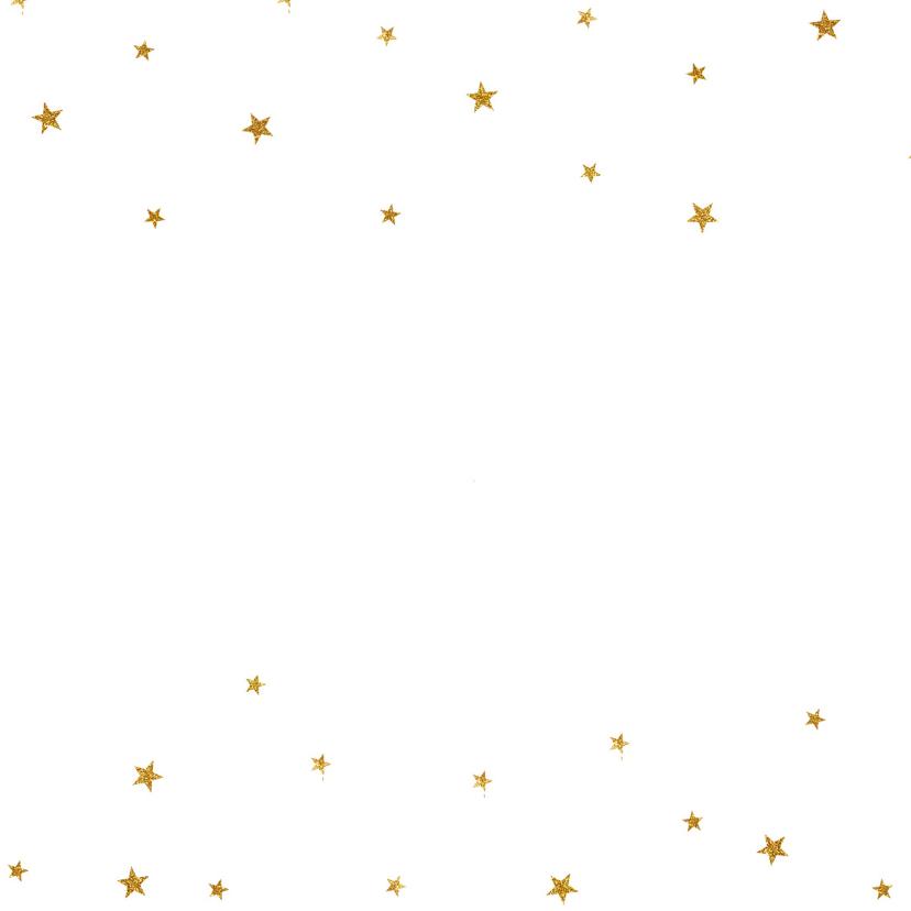 Kerstkaart glitter sterretjes foto - BC 2