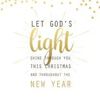 Kerstkaarten - Kerstkaart God's love goudlook