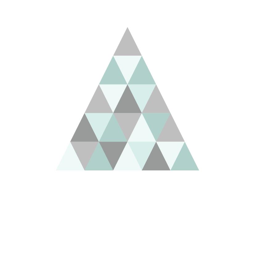 Kerstkaart grafisch grijs & mint 3