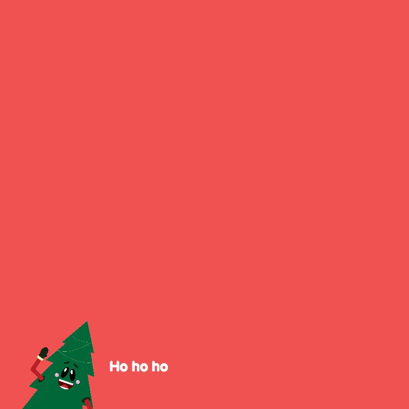 Kerstkaart Grappige kerstboom 2