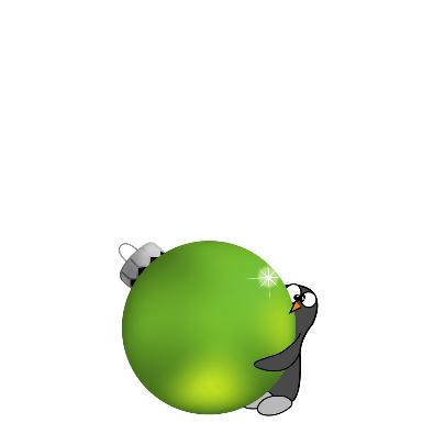 Kerstkaart grappige pinguïn - SZ 2