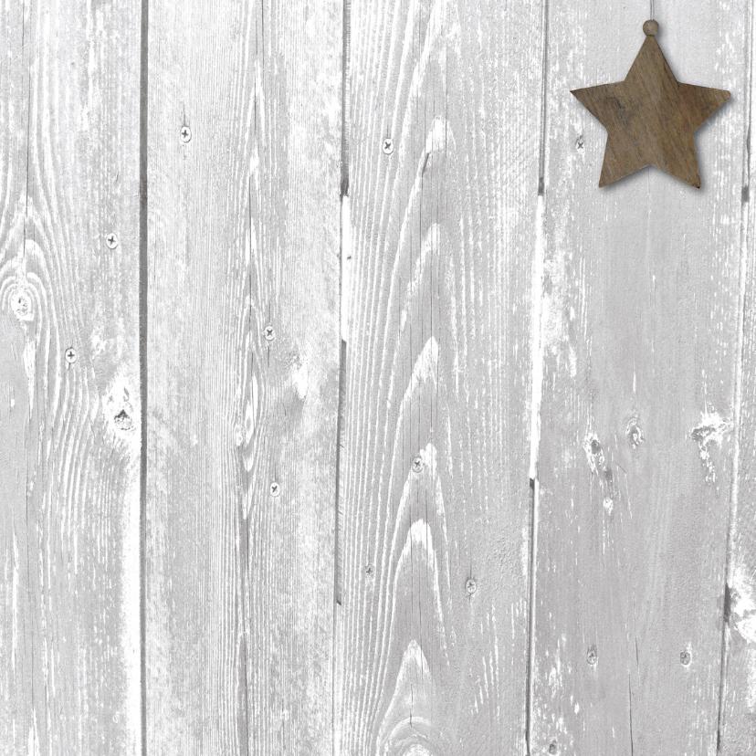 kerstkaart grijs foto hout en stempel 3