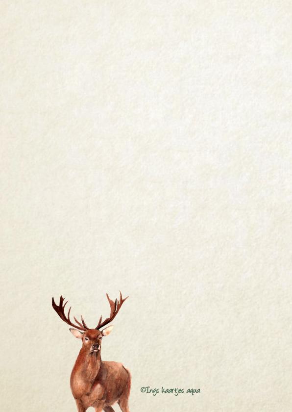 Kerstkaart Groot hert 2