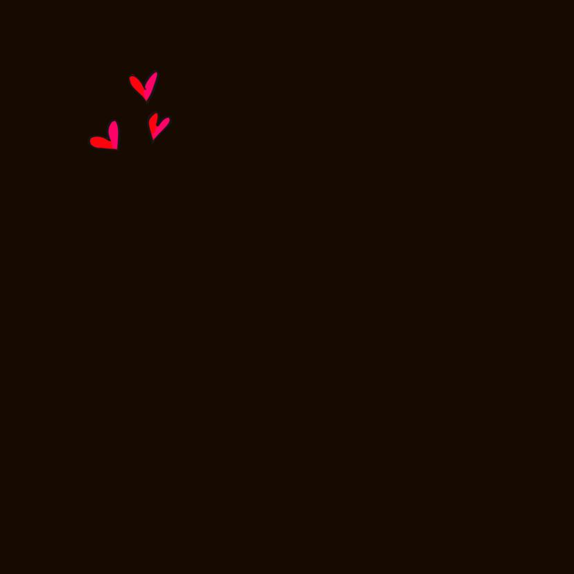 Kerstkaart hart & zwart 2