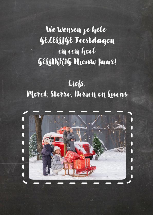 Kerstkaart hert retro schoolbord - SG 3