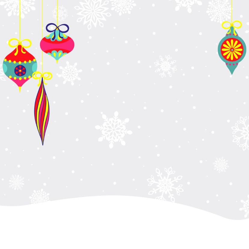 Kerstkaart hip met rendier in de sneeuw 2