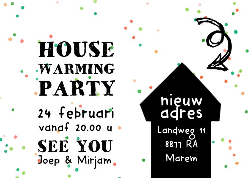 Kerstkaart housewarming party 3