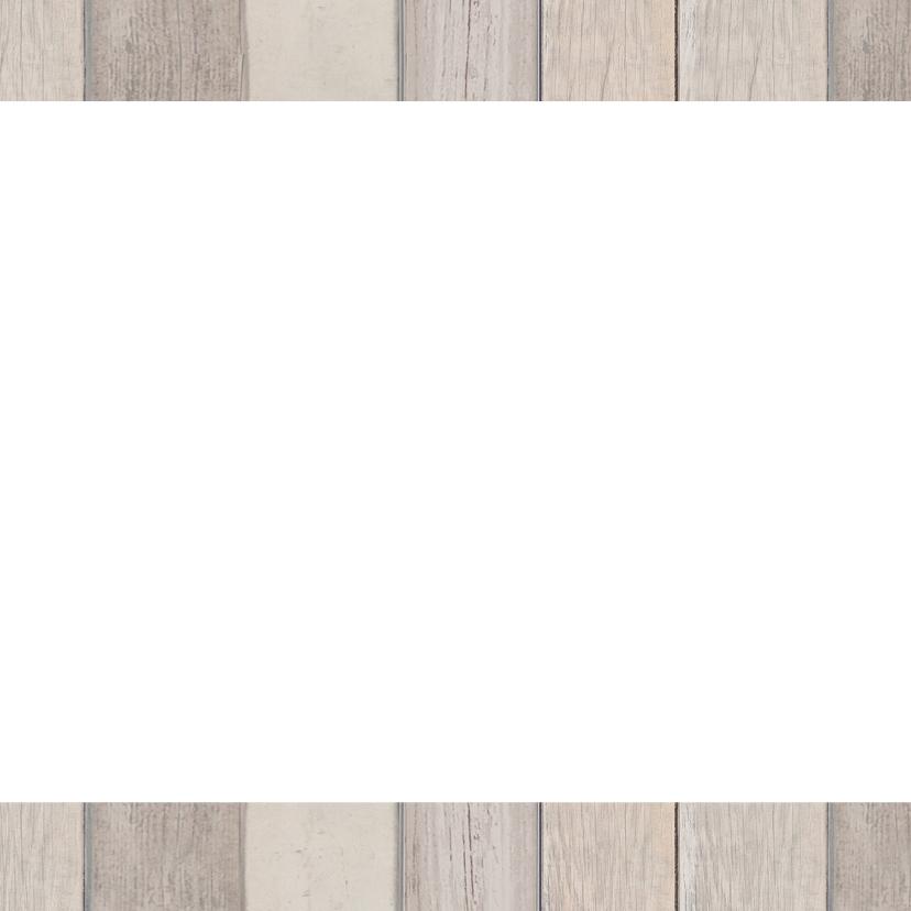 Kerstkaart hout tekst - BC 2