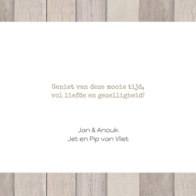 Kerstkaart hout tekst - BC 3
