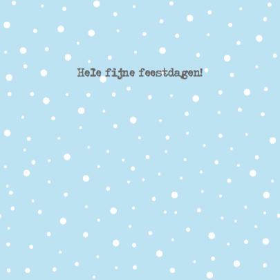 Kerstkaart huisjes sneeuw foto 3