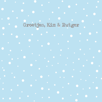 Kerstkaart huisjes sneeuw 3