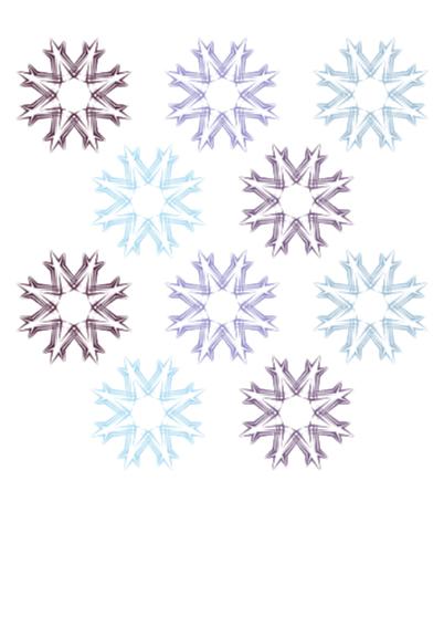 Kerstkaart ijsblauw kerstster OT 2