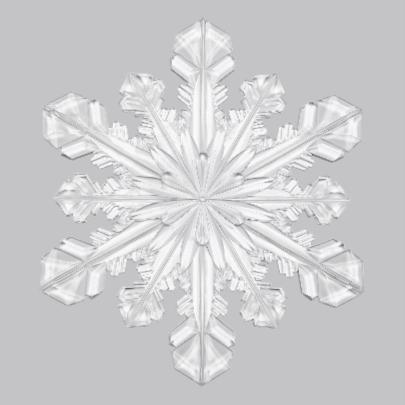 Kerstkaart ijskristal grijs - OT 2