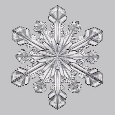 Kerstkaart ijskristal wit 2