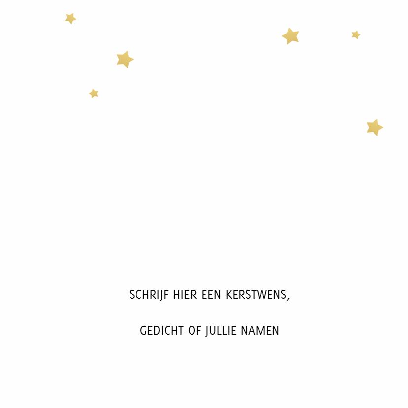 Kerstkaart Joy goudlook 3
