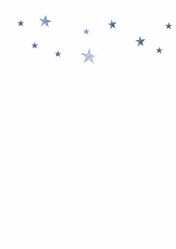 Kerstkaart Joy to the world sterren 2