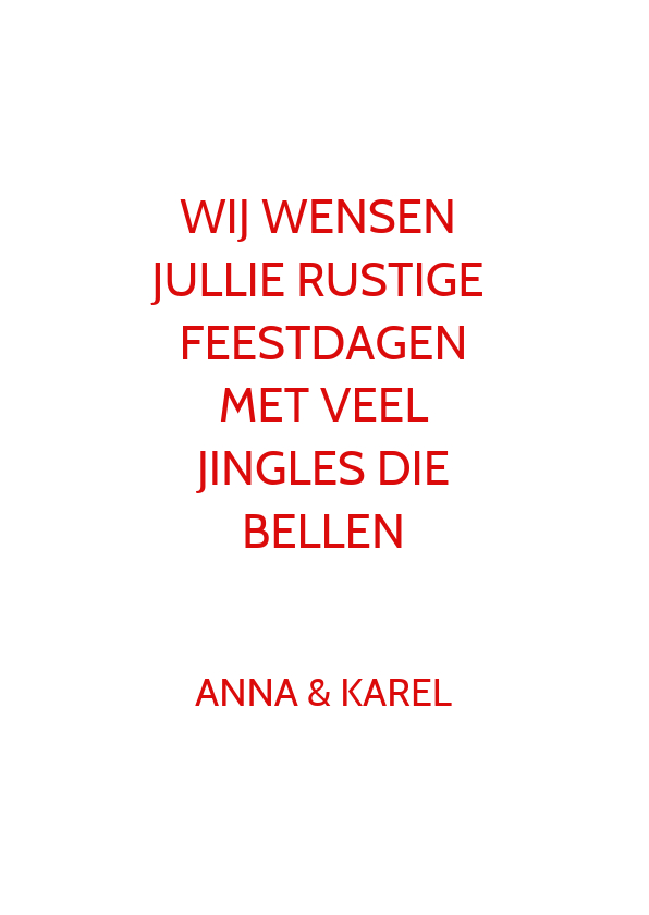 Kerstkaart keep calm jingle bells 3