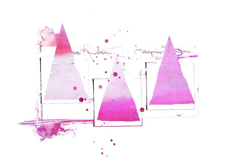 Kerstkaart Kerst Abstract Roze Kerstkaarten Kaartje2go