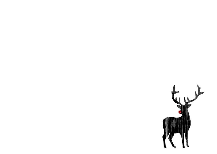 Kerstkaart Kerst Hert Rudolf 3