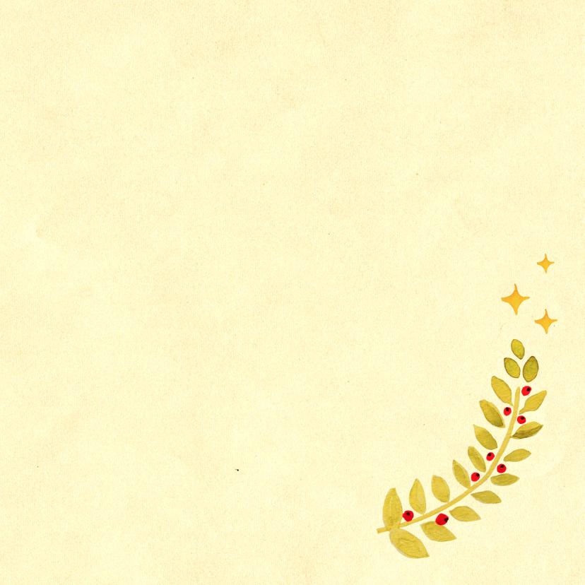 Kerstkaart Kerst vosje 3