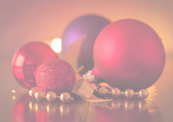 Kerstkaart Kerstballen Rood MM 3