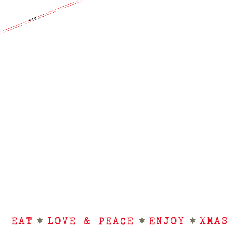 Kerstkaart  - Kerstboom illustraties met  tekst (wit/groen) 2