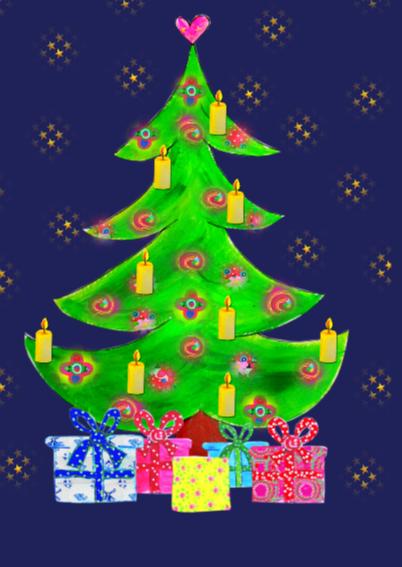 Kerstkaart Kerstboom PA 2
