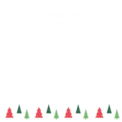 Kerstkaart Kerstboom Roodpaars 3