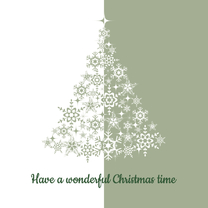 Kerstkaarten - Kerstkaart kerstboom silhouet