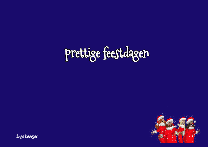Kerstkaart Kerstdames 3