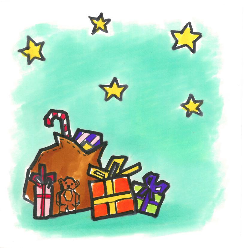 Kerstkaart - kerstmannetje 2