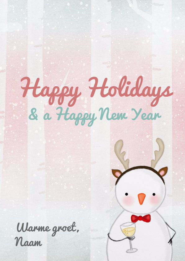 Kerstkaart kerstmis Jolly Snowmen 3