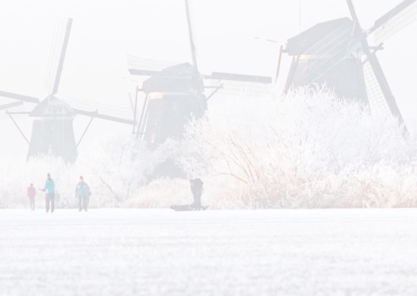 Kerstkaart Kinderdijk Winter 3