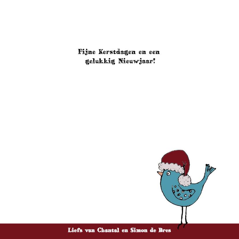 Kerstkaart koffiemok vogel-HR 3