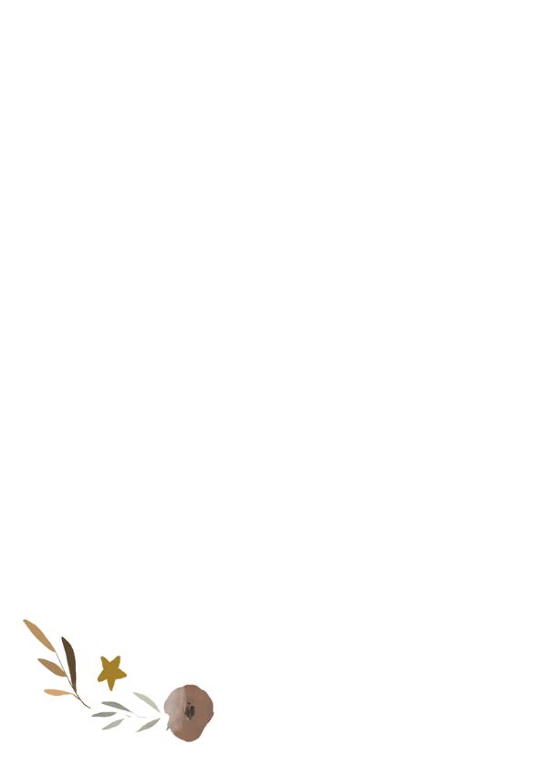 Kerstkaart krans bloemen - HM 2