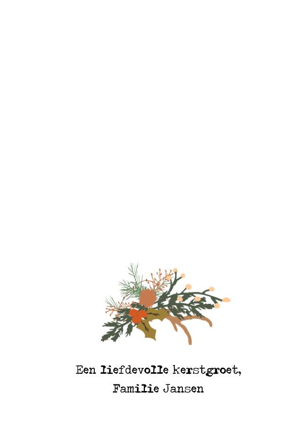 Kerstkaart krans tekst - HM 3