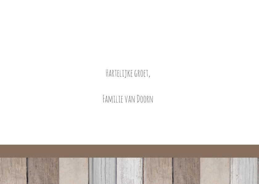 Kerstkaart krijt hout label 3