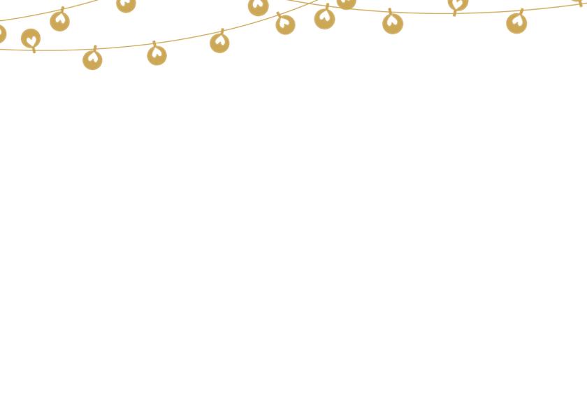 Kerstkaart krijt lampjes 2