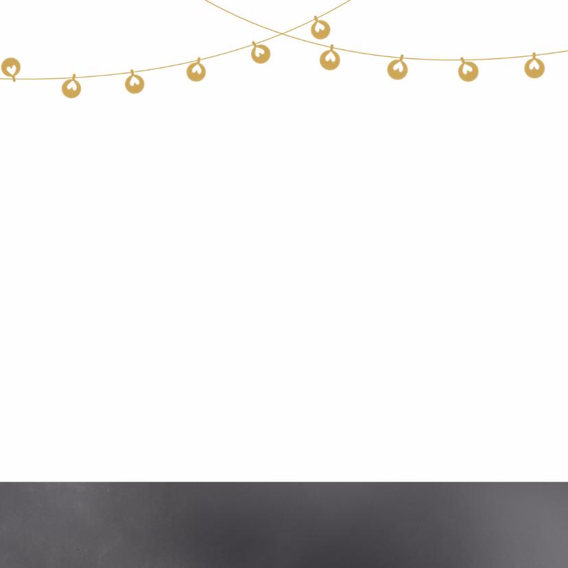 Kerstkaart krijtbord lampjes - BC 2