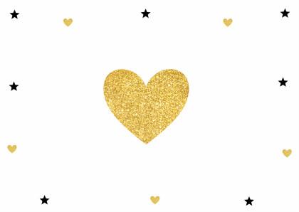Kerstkaart label sterren goud - LB 2