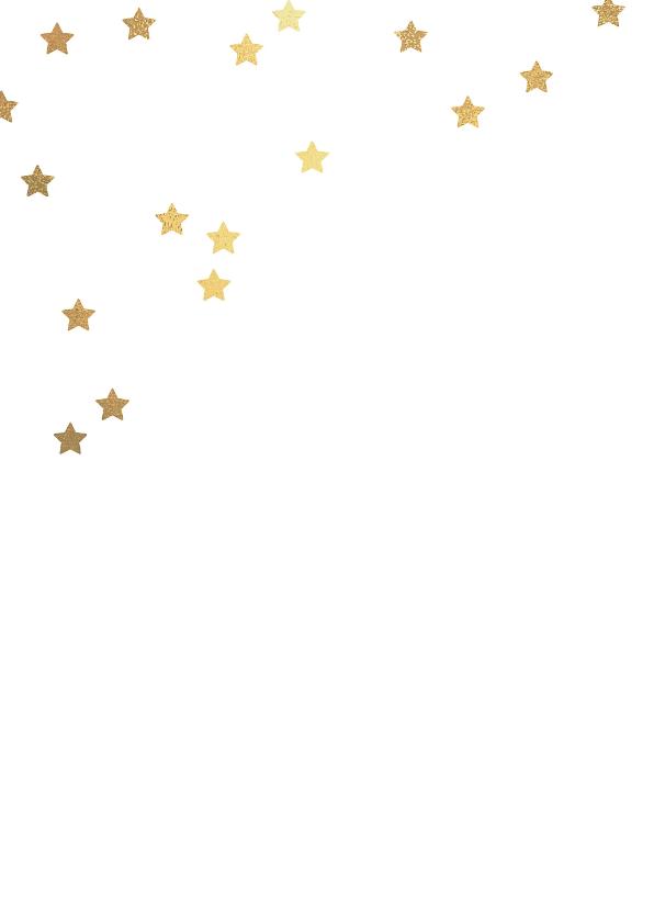 Kerstkaart label sterren 2