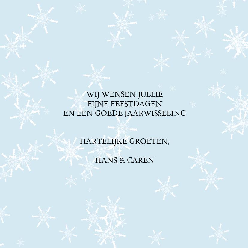 Kerstkaart lachende sneeuwpop 3