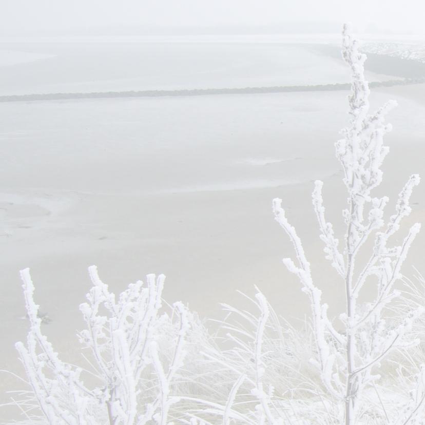 kerstkaart landschap sneeuw 2