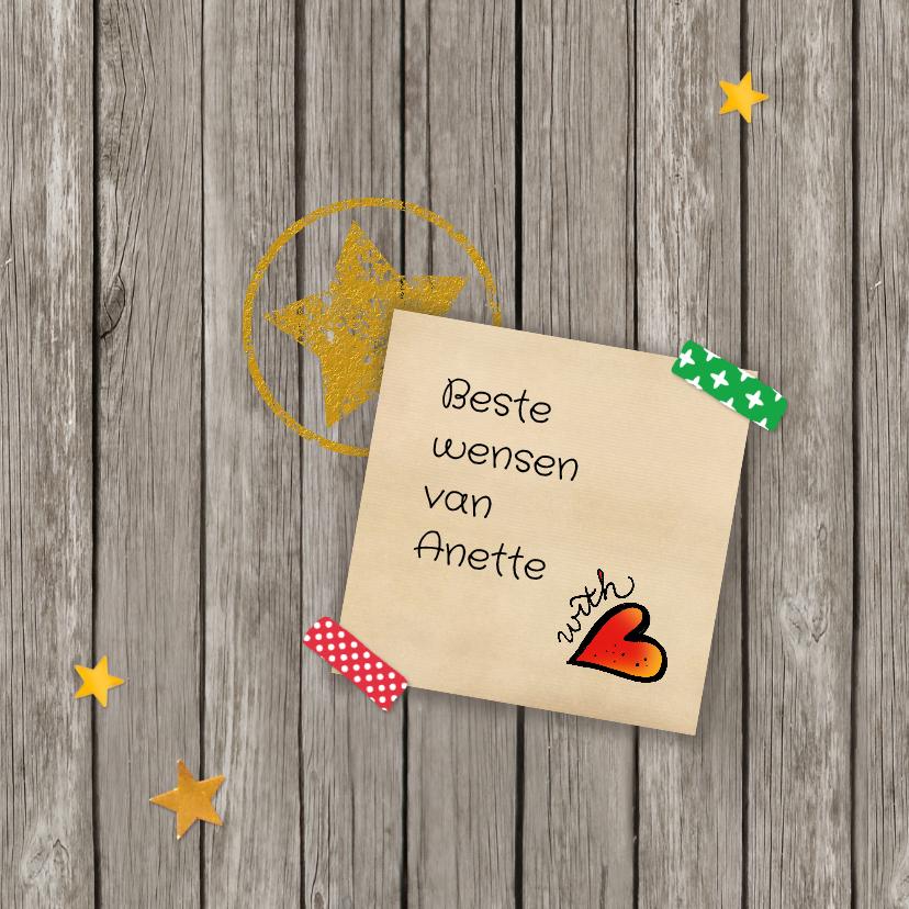 Kerstkaart lettering Merry everything 3