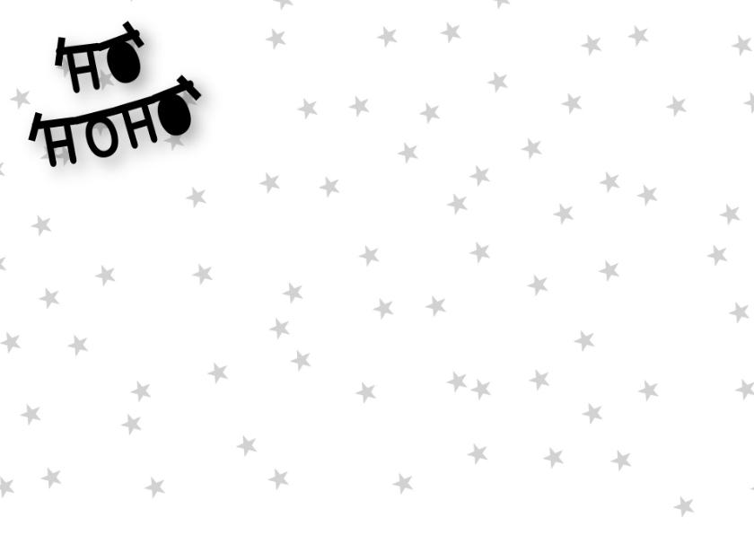 Kerstkaart letterslinger foto zwartwit 2