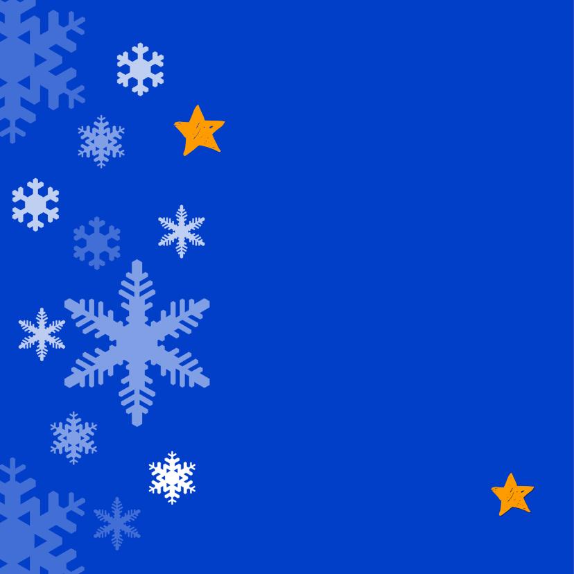 Kerstkaart Lichtjes Sneeuwpop OT 2