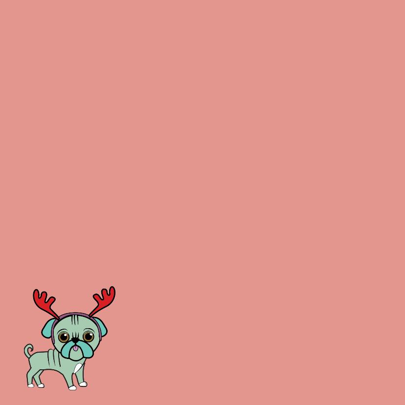 Kerstkaart- lieve hondjes 2