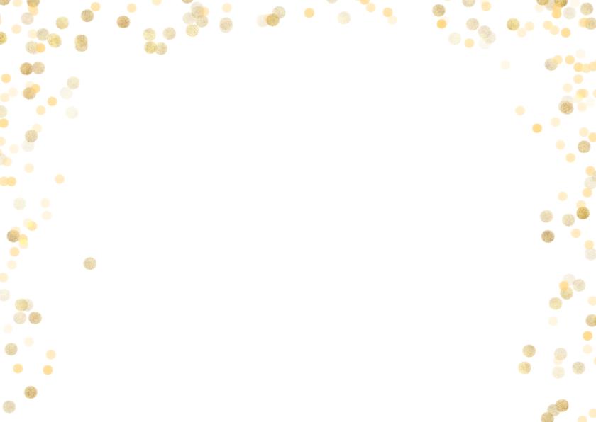 Kerstkaart liggend met gouden confetti 2