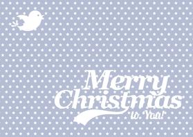 Kerstkaart Merry Christmas ster