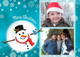 Kerstkaarten - Kerstkaart Merry Snowman